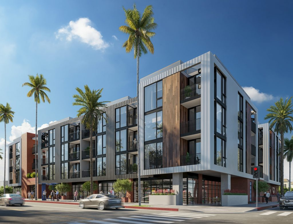 New mixed-use development to add 88 housing units, including 9 affordable housing units, to Santa Monica Blvd.